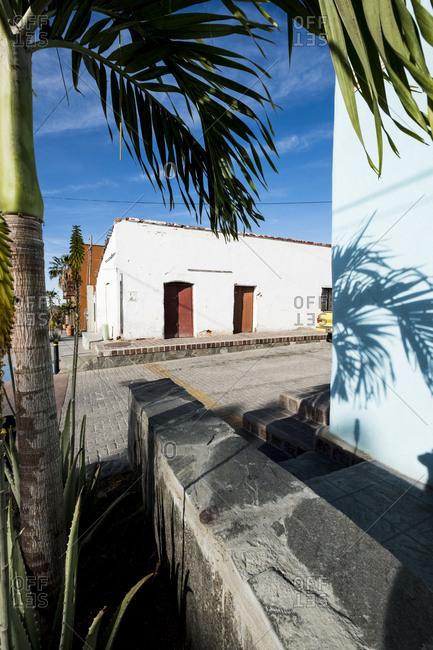 View of Todos Santos magic town in Baja California Sur in Mexico