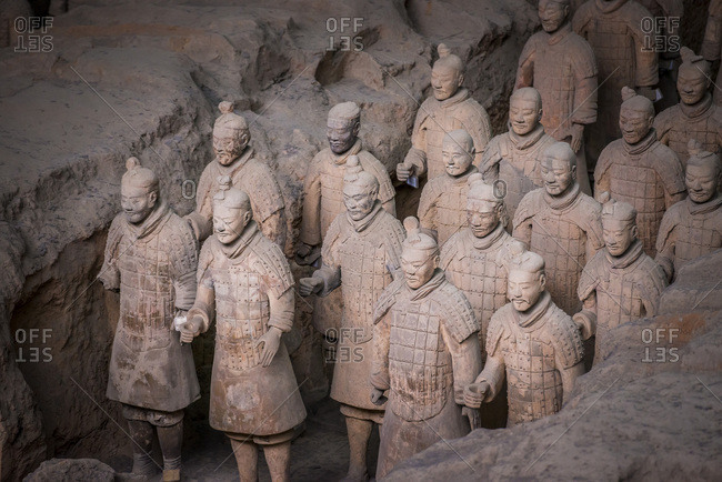August 23, 2017: Qin Shi Huang's Tomb, Terracotta SoldiersThe Terracotta Army,  Xi'An, Shanxi, China