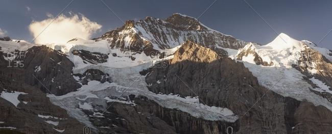 Sunrise on Jungfrau mountain group from Kleine Scheidegg, Grindelwald, Berner Oberland, Switzerland, Europe
