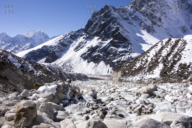 Snowy mountains, Everest Region, Nepal