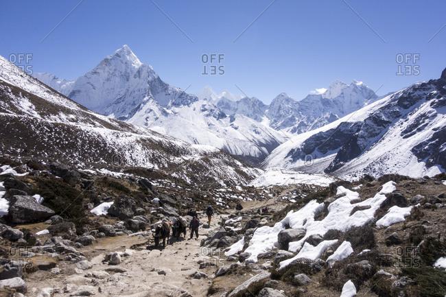 Hikers, Everest Region, Nepal
