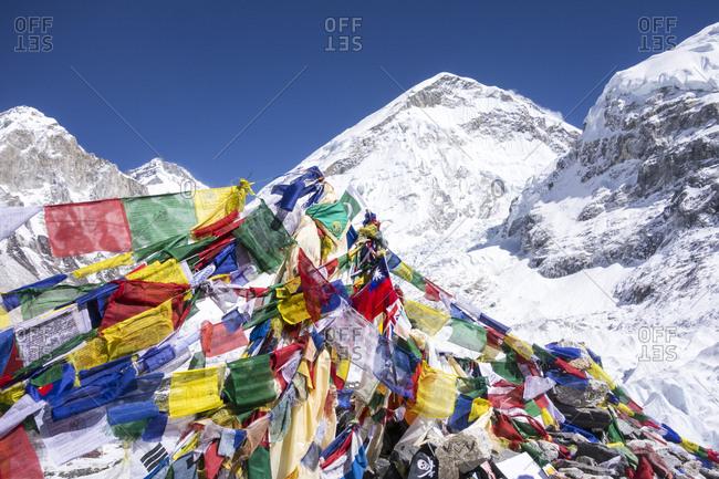 Prayer flags, Everest Base Camp, Nepal