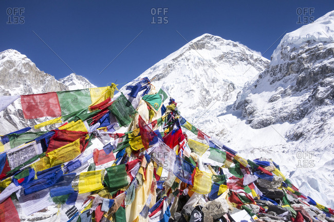Prayer flags, Everest Base Camp, Nepal