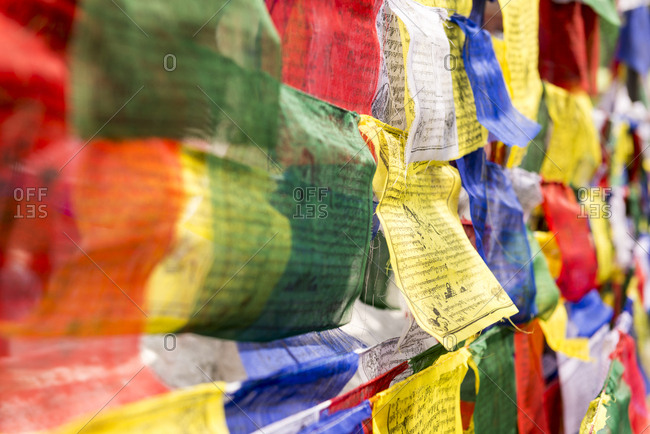Prayer Flags, Boudhanath Stupa, Nepal