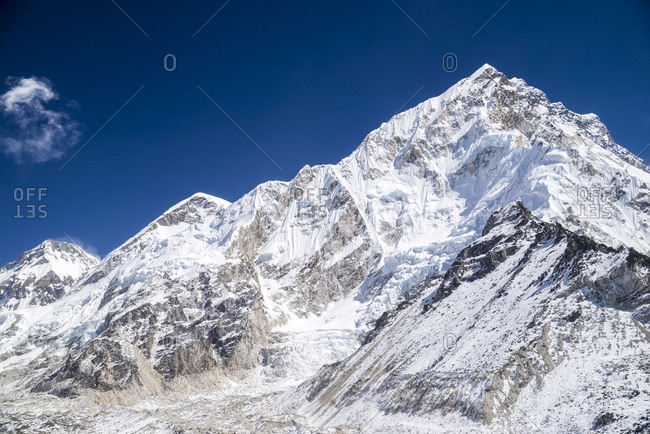 Snowy peaks at Everest Base Camp, Nepal