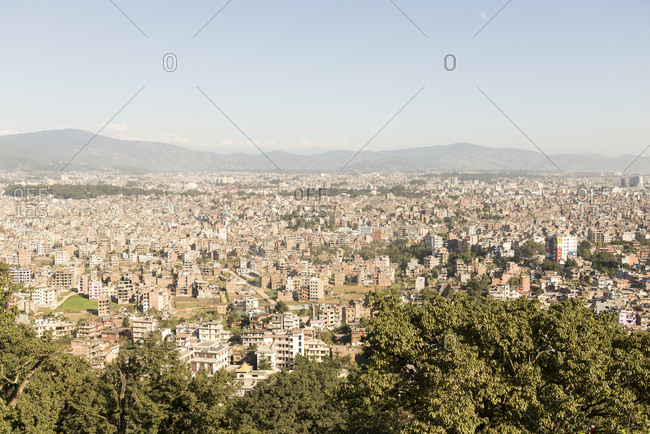 Skyline of Kathmandu, Nepal