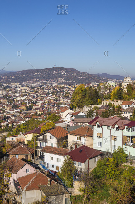View of Sarajevo, Bosnia and Herzegovina, Europe