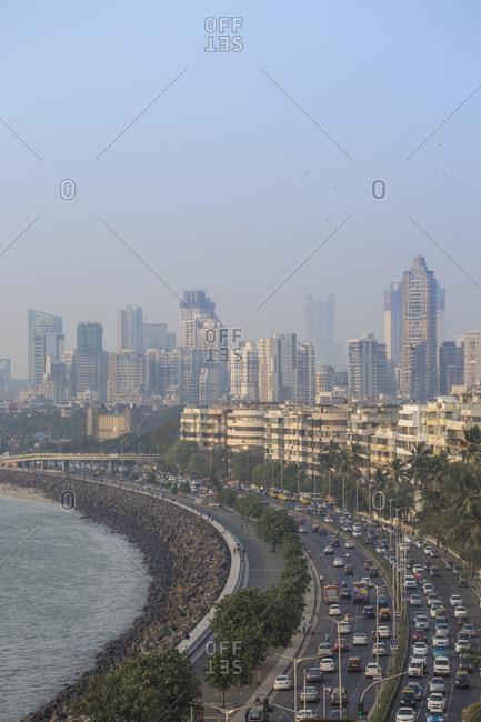 View of Marine Drive, Mumbai, Maharashtra, India, Asia
