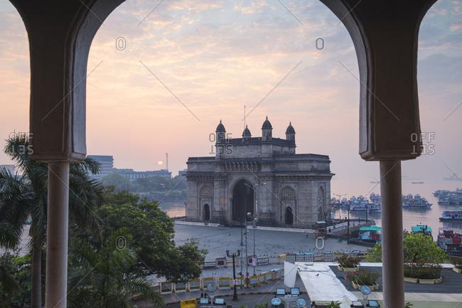 October 20, 2016: View of Gateway of India, Mumbai, Maharashtra, India, Asia