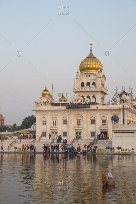 October 17, 2016: Gurdwara Bangla Sahib, a Sikh temple, New Delhi, Delhi, India, Asia