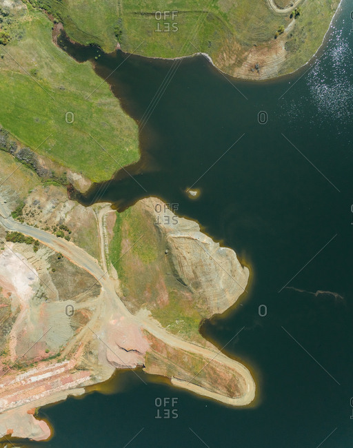 Aerial view of artificial lake Plastira, Greece