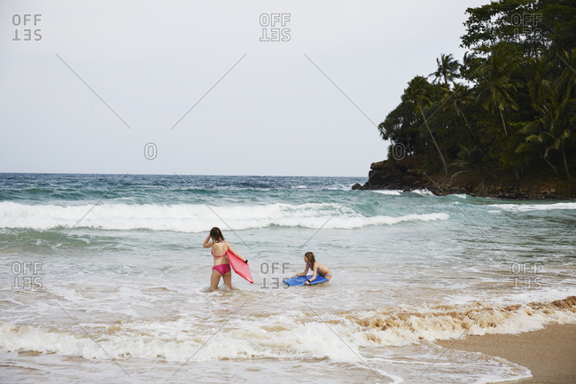 Two girls in sea