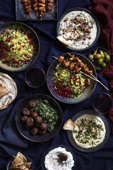 Iftar food prepared for Ramadan
