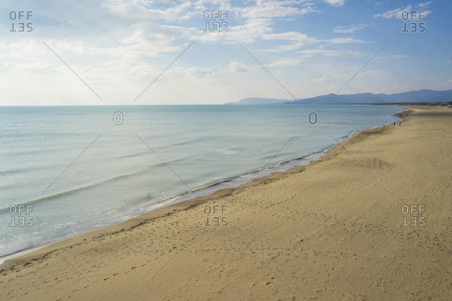 Italy, Tuscany, Grosseto . Marina di Grosseto, the beach