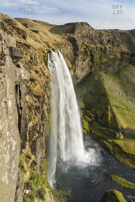 Seljalandsfoss waterfall on south of Iceland