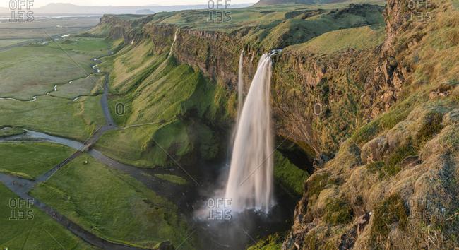 Seljalandsfoss waterfall, Southern Iceland, Iceland