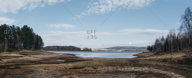 Scenic view of Lake Vlasina against sky