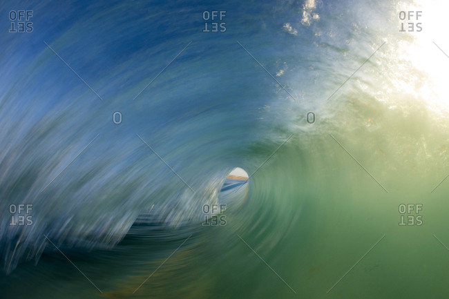 A wave breaks in Perth, Western Australia