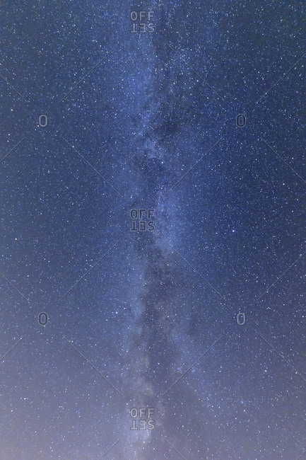 Stars in sky with the Milky Way in summer at the Bavarian Forest National Park in Bavaria, Germany