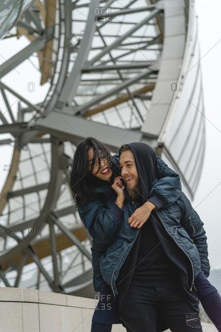 France- Paris- happy young couple