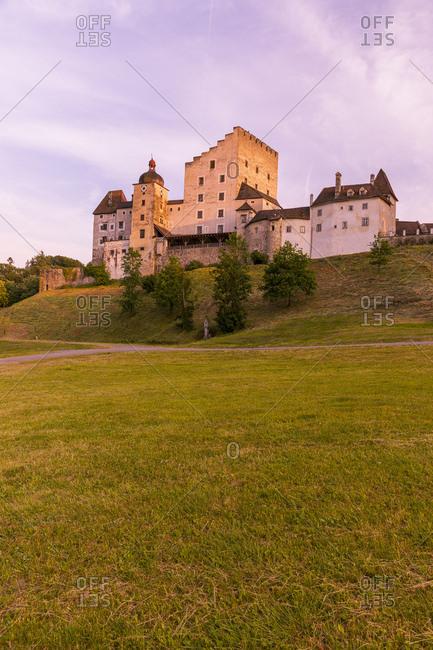 Austria- Upper Austria- Muehlviertel- Burg Clam in the evening