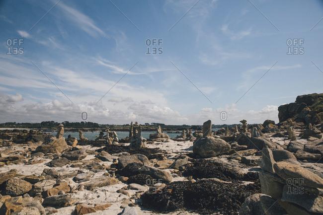 France- Brittany- Guisseny- rocks at the coast