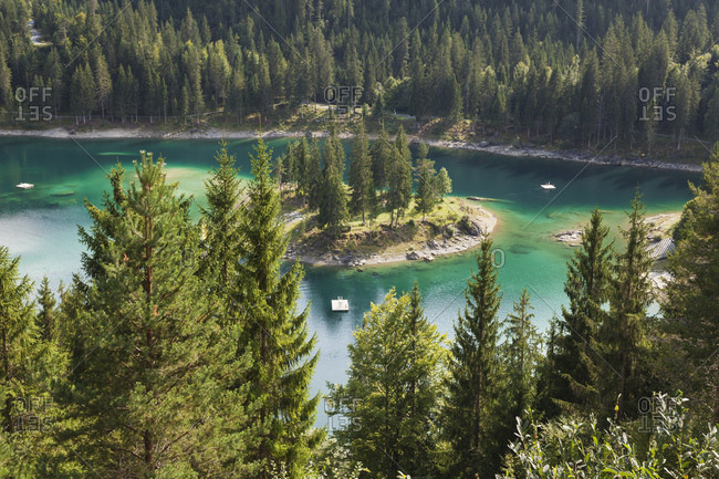 Switzerland- Grisons- Cauma Lake in Flims- Alpine Lake