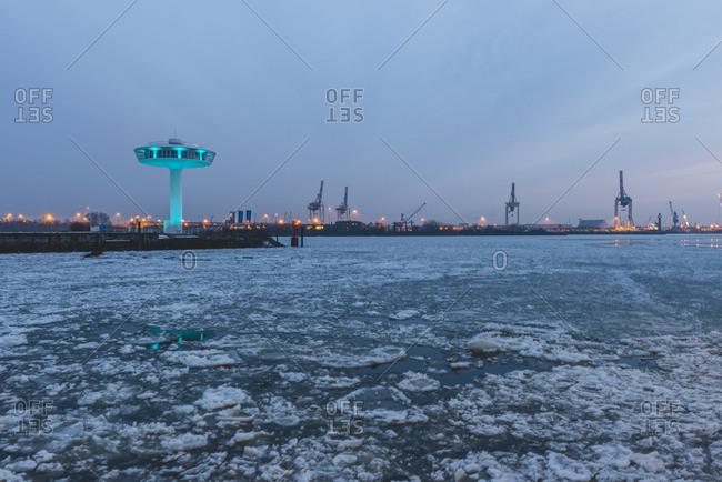 Germany- Hamburg- Hafencity- Baakenhoefts- Lighthouse Zero- residential tower