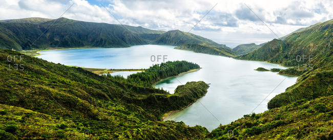 Azores- Sao Miguel- Fire lake formed in the crater of Agua de Pau