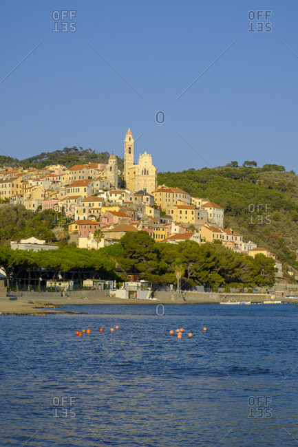 Italy- Liguria- Riviera di Ponente- Cervo- townscape in the evening light