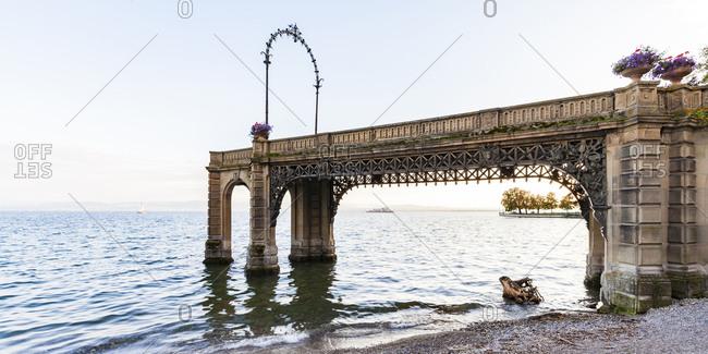 Germany- Baden-Wuerttemberg- Friedrichshafen- Lake Constance- Castle jetty