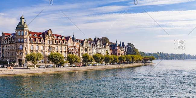 Germany- Baden-Wuerttemberg- Constance- Seestrasse and luxury villas- art nouveau