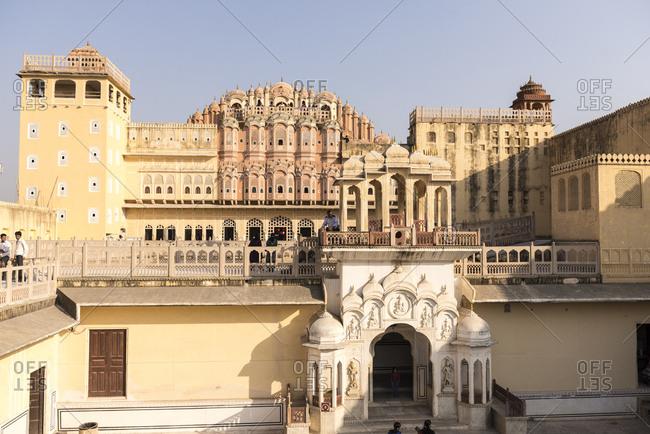 Jaipur, India - June 29, 2012: Hawa Mahal Palace, Jaipur, India