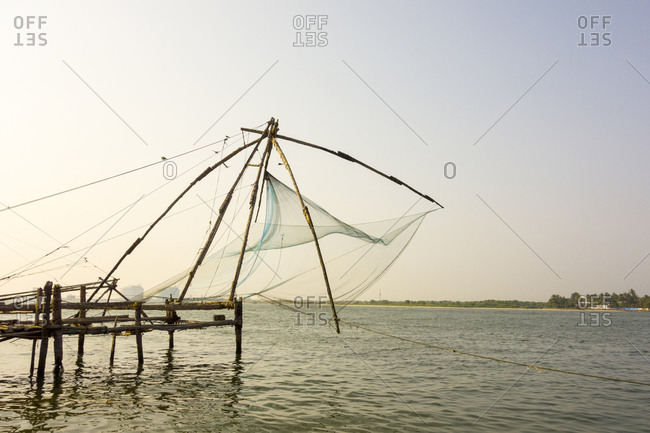 Traditional fishing nets, Kochi, Kerala, India