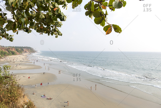 Varkala Beach on the coast of Kerala, India
