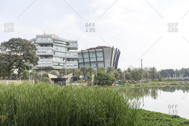 modern buildings bangalore india stock photo offset
