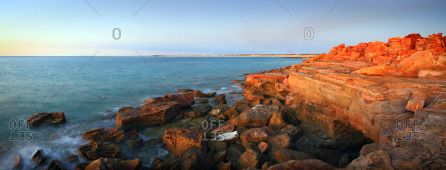 Sunset over the promontory at Gantheaume Point, Broome, Australia