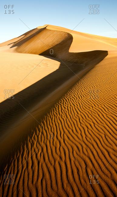 View of high sand dunes close to Swakopmund, Namibia