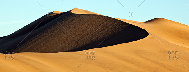 View of high sand dunes close to Swakopmund, Namibia