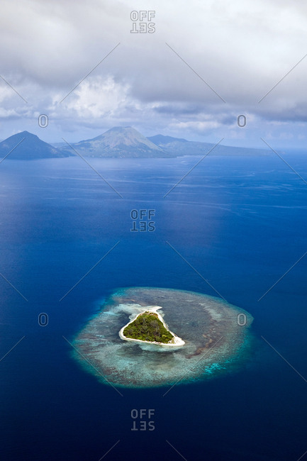 Lonely island from above, Papua New Guinea