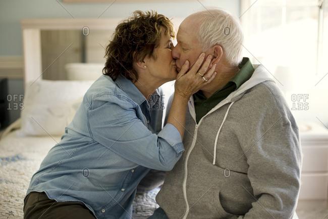 Mature couple share