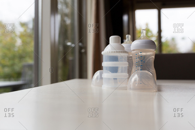 Baby bottles and milk dispensers