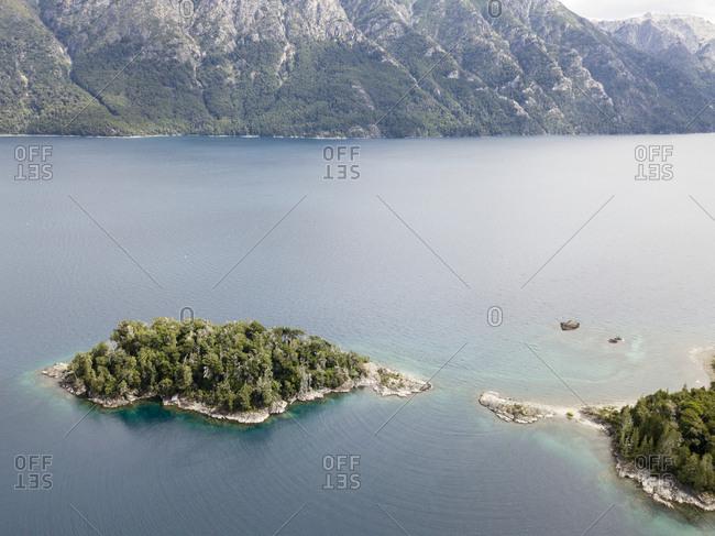 Elevated view of scenic Nahuel Huapi Lake
