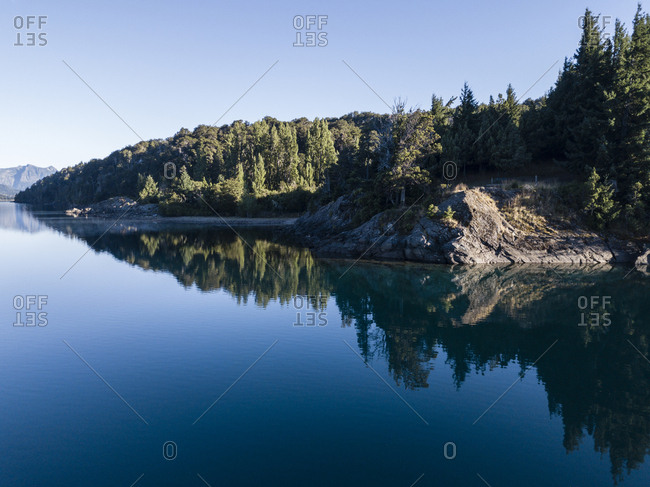 Quiet lakeside forest in Pantagonia