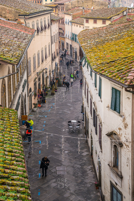 November 20, 2016: San Miniato village during truffle exhibition, Tuscany, Italy