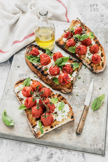 Tomatoes bruschetta from the Offset Collection