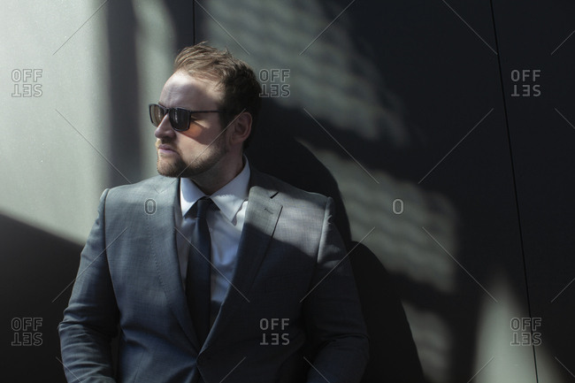 Businessman in sunglasses