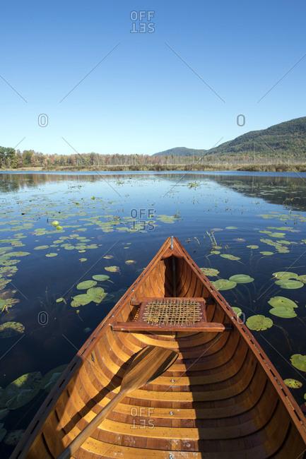 Canoeing on Bristol Pond in Bristol, Vermont