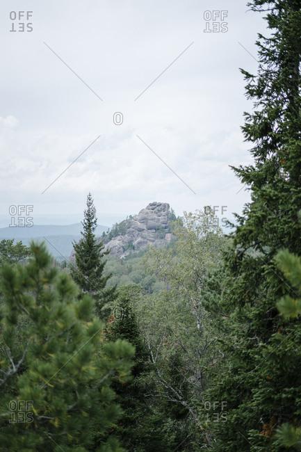 Mountain landscape in Krasnoyarsk, Russia