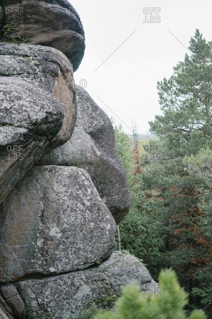 Rocky mountains in Krasnoyarsk, Russia